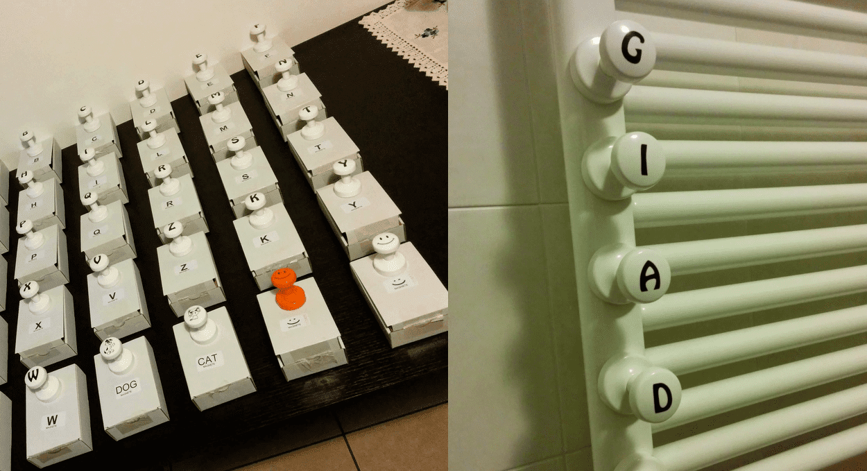 Appendini da bagno con calamita personalizzati in vari lettere e smile