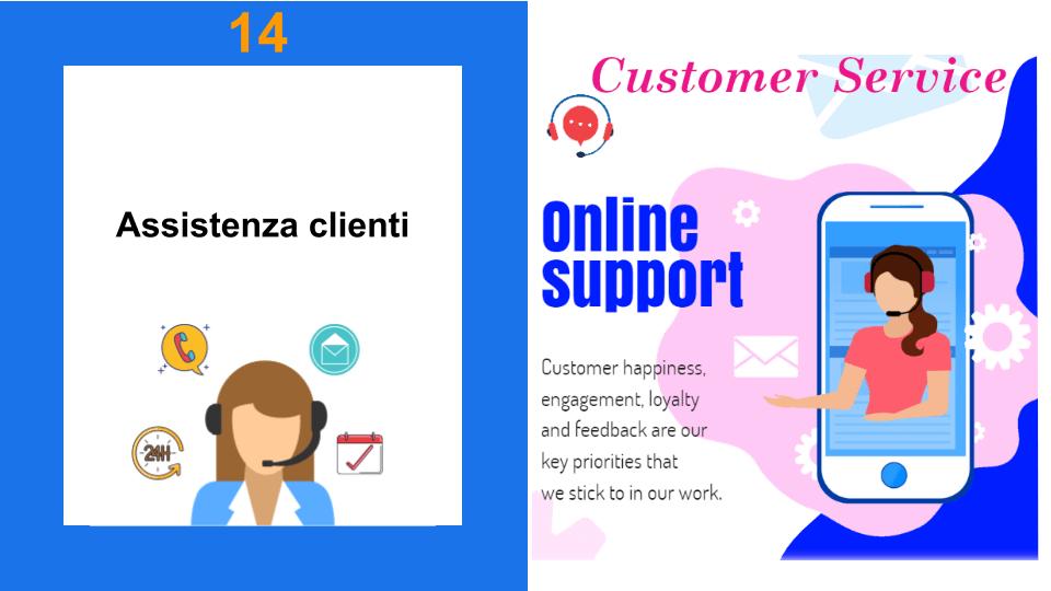 Signorina dell'assistenza clienti ed un'altra signorina dell'online support in lingua inglese