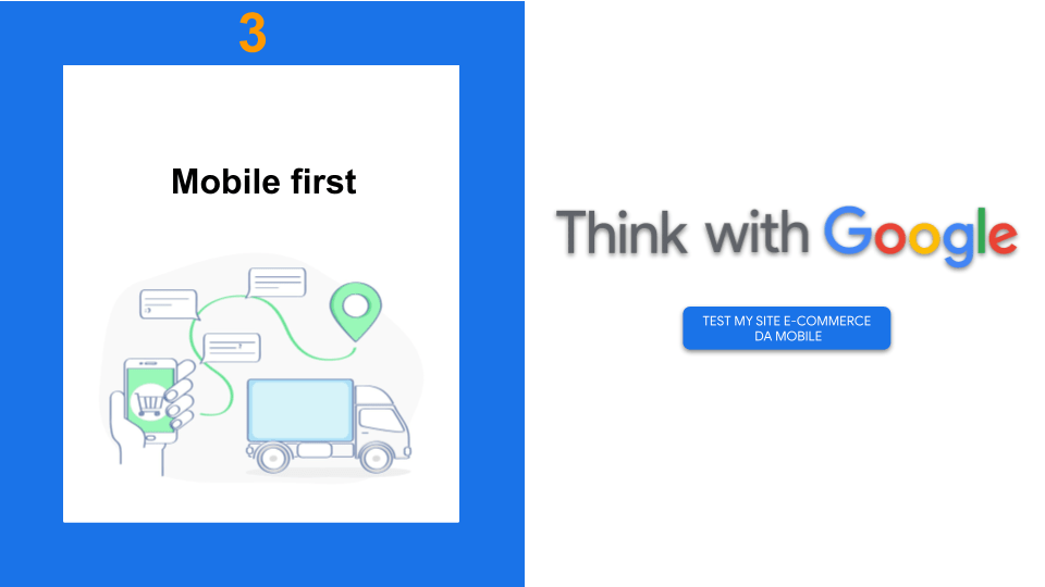 Mobile e vari touch point con Camion trasporti - CTA Think with Google in Test My Site