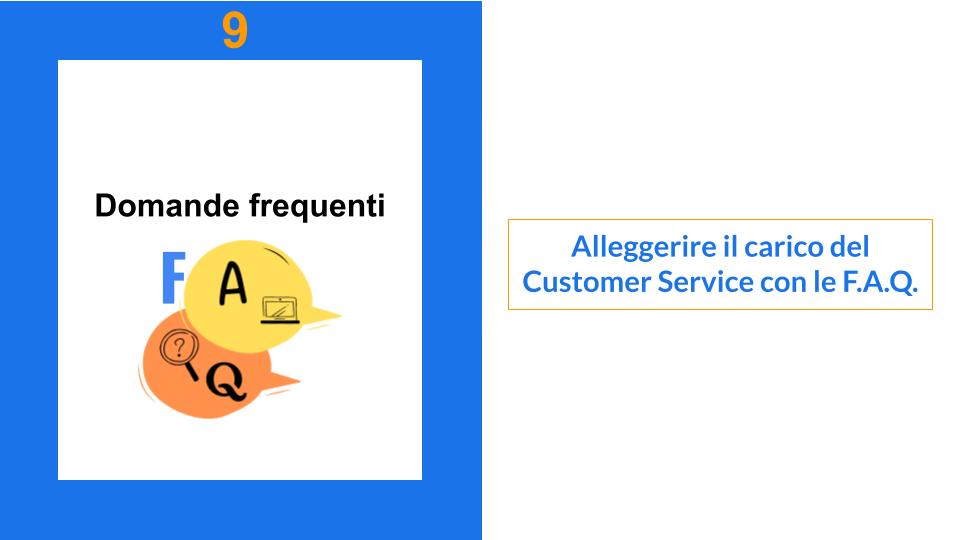 Immagine domande frequenti e F.A.Q. alleggeriscono il Customer Service