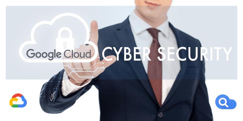 Locadina Aziendale per Google Cloud Cyber Security con loghi Search